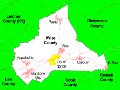 Map of Wise County