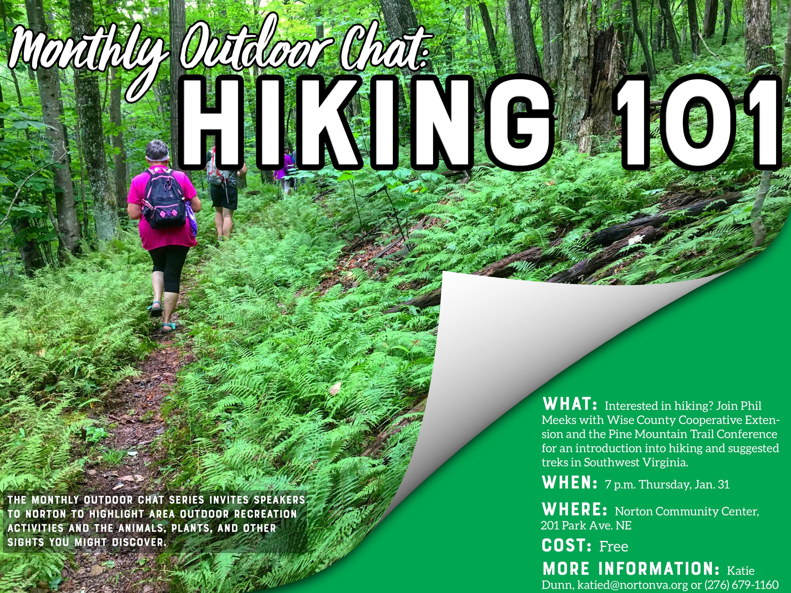 Photo of Hiking Chat Flyer