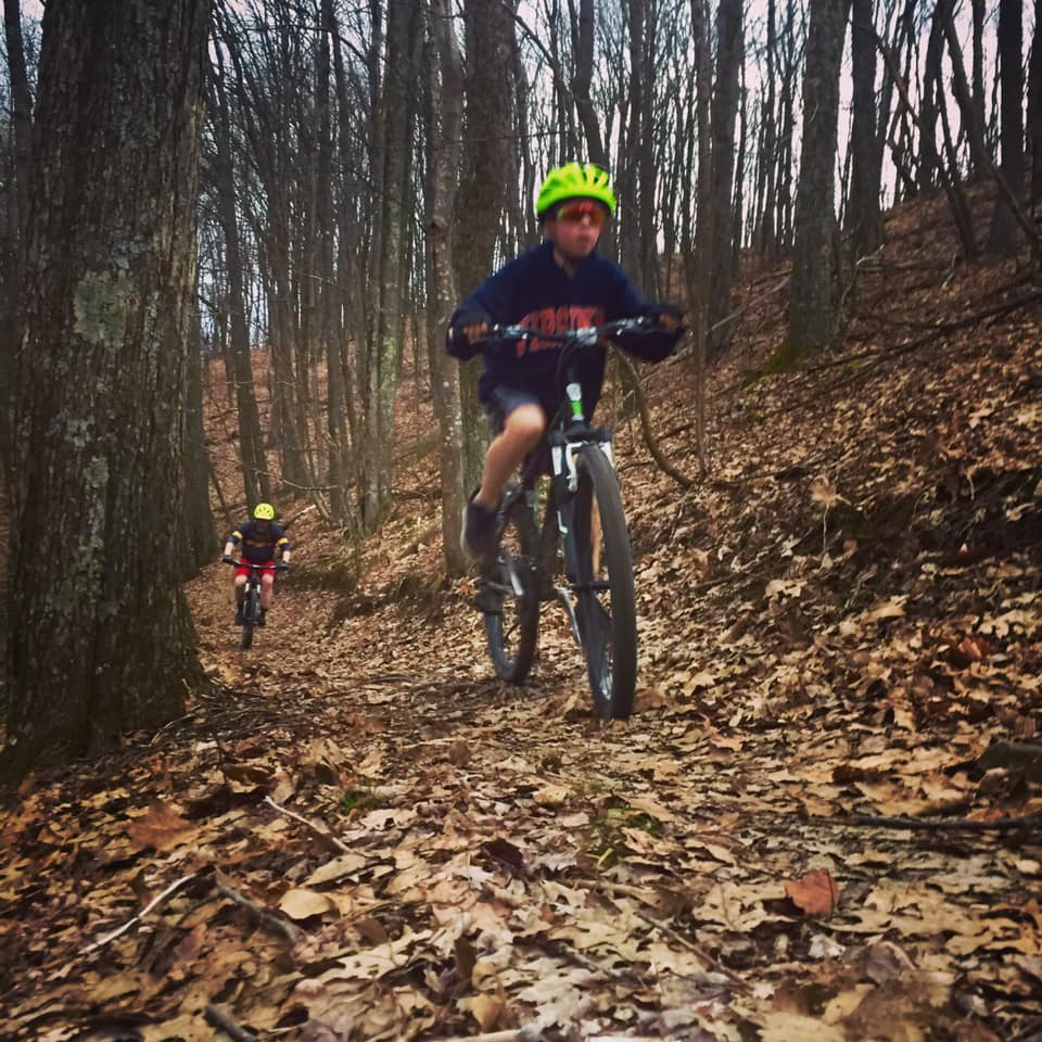 Photo of a mountain biker on Flag Rock Area Trails