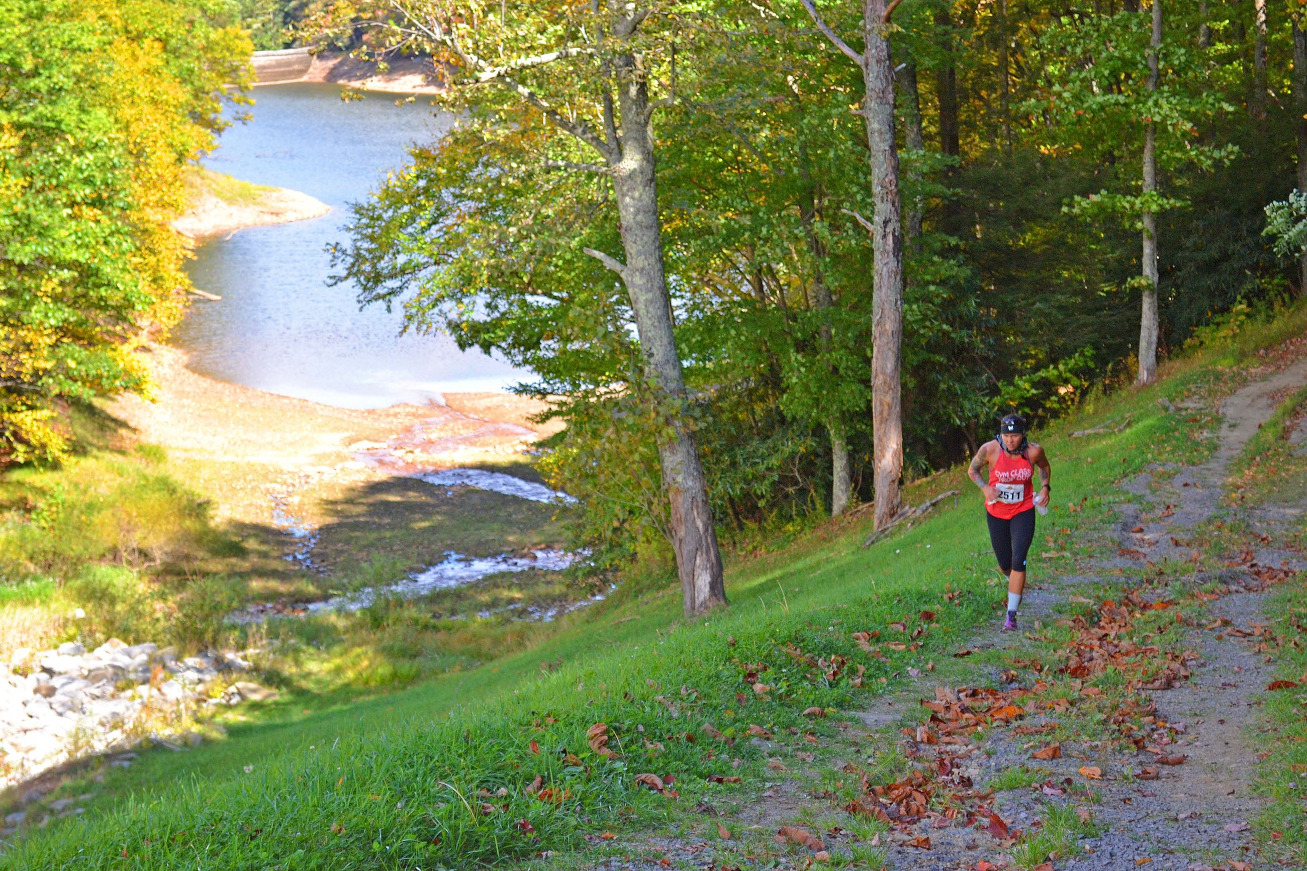 Photo of runner on Flag Rock Area Trails