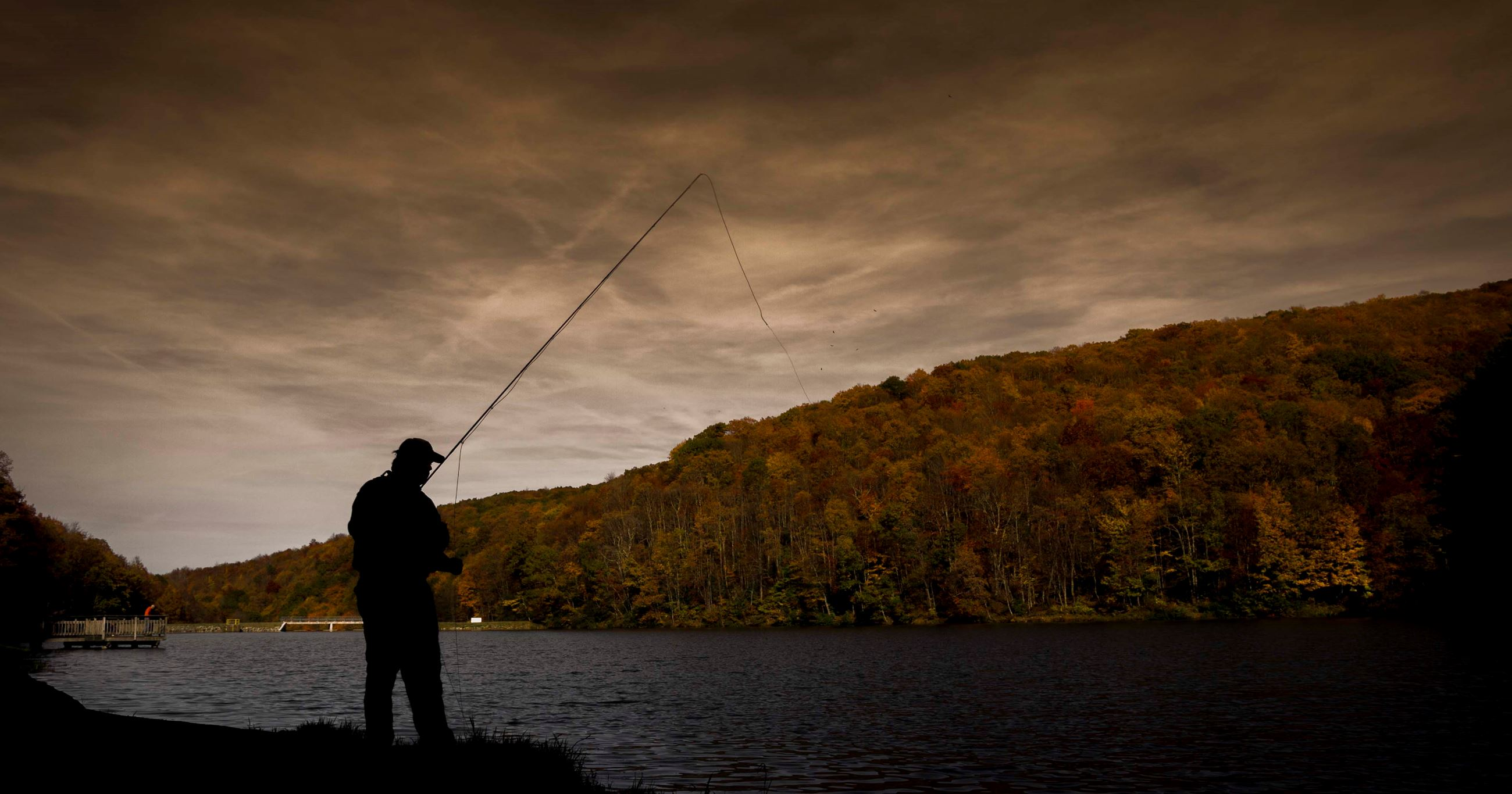 Photo of fisherman at Norton Reservoir