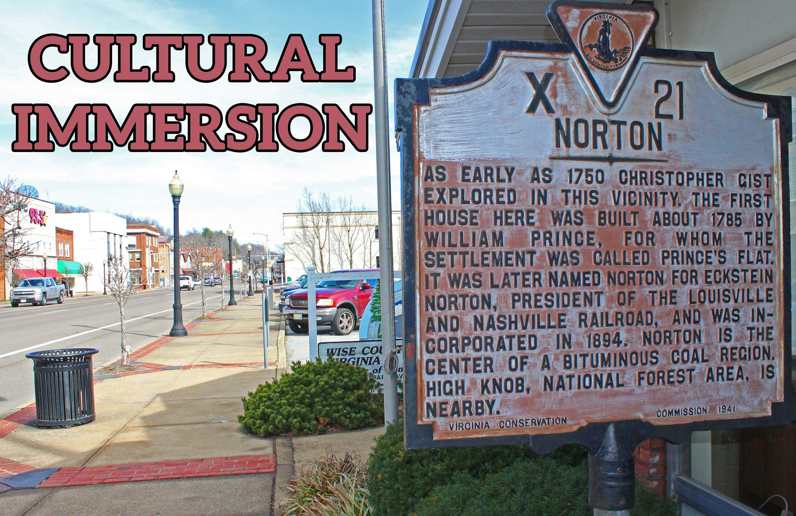 Photo of Downtown Norton historical marker