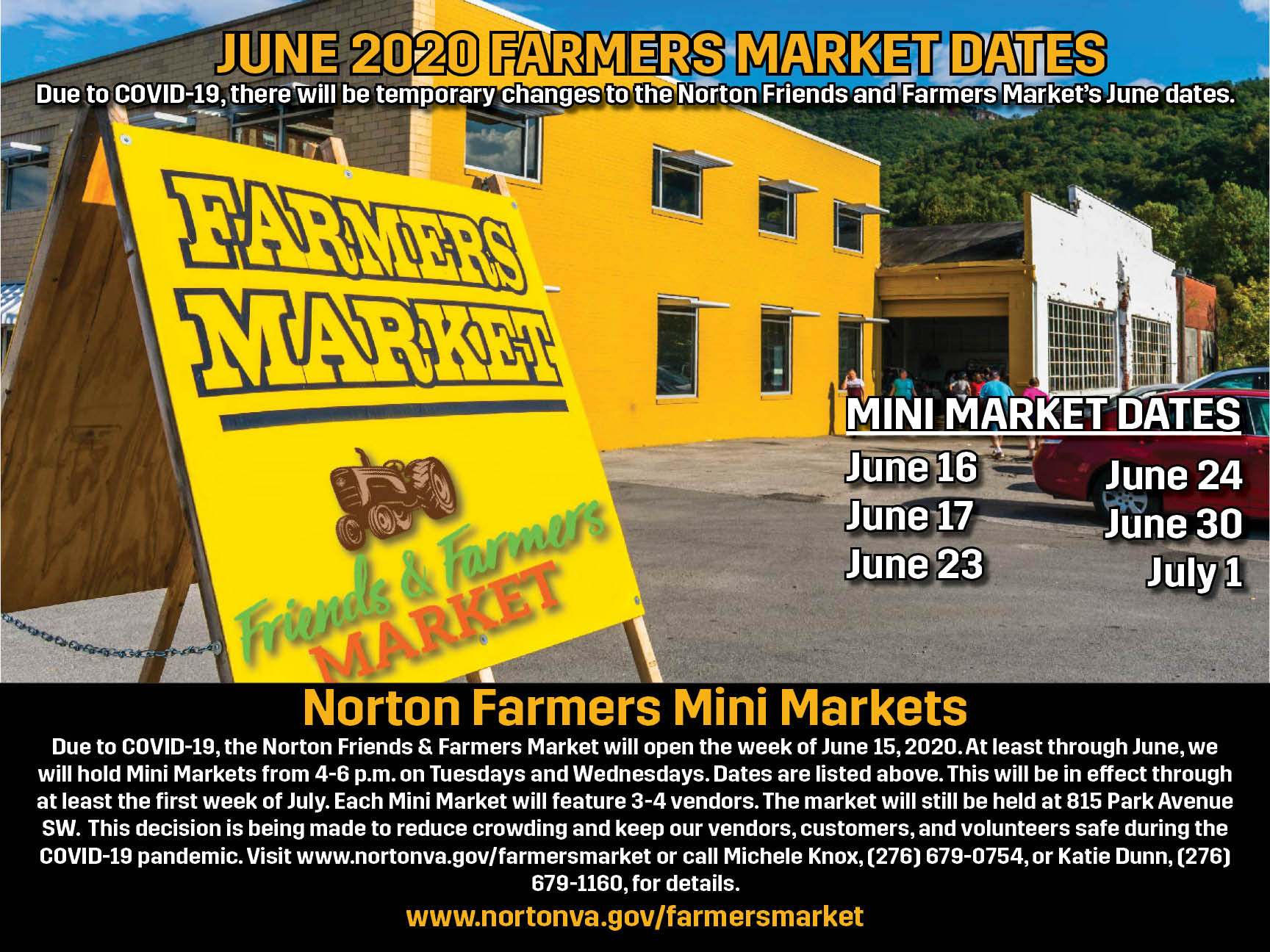 Farmers Market Info Flyer Horizontal
