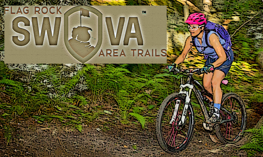 Picture of mountain biker on Flag Rock Area Trails