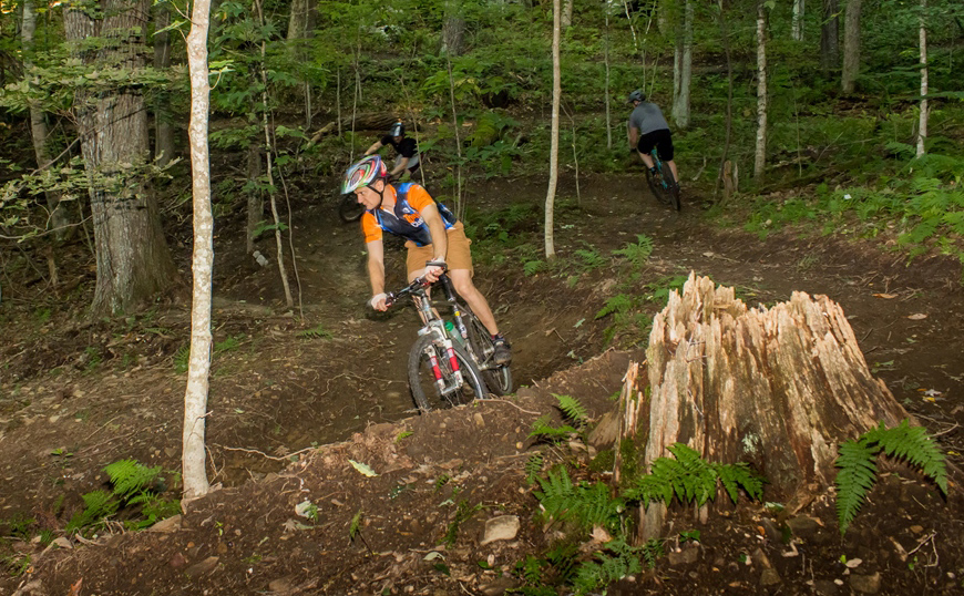 Picture of mountain bike riders on Flag Rock Area Trails