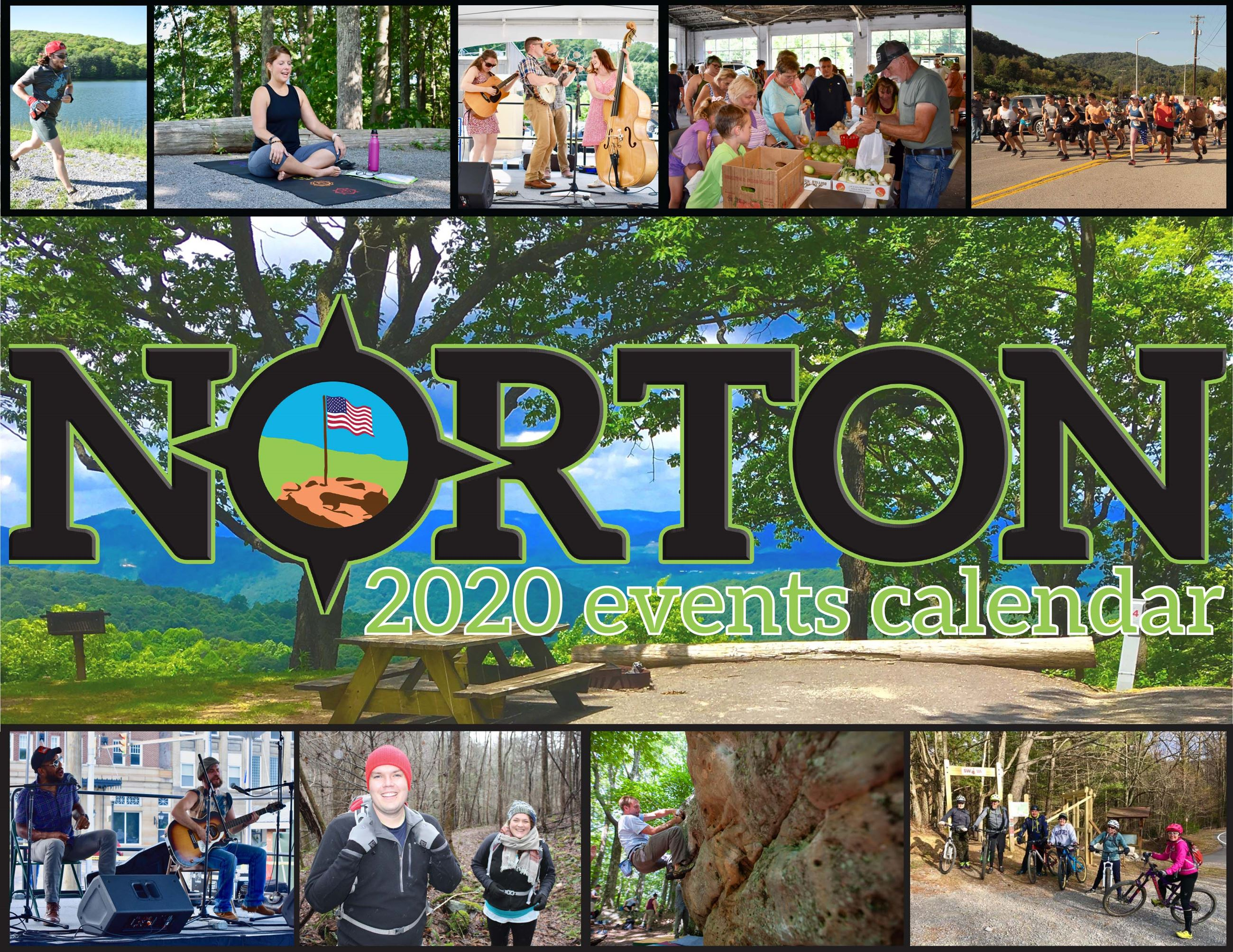 Photo of cover for Norton 2020 Events Calendar