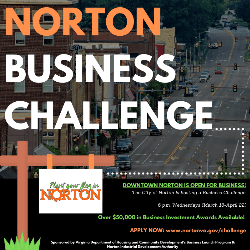 Photo of business challenge flyer