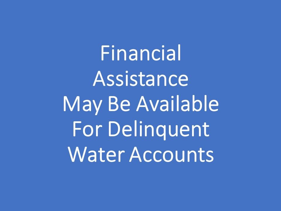 Financial Assistance for Water Accounts