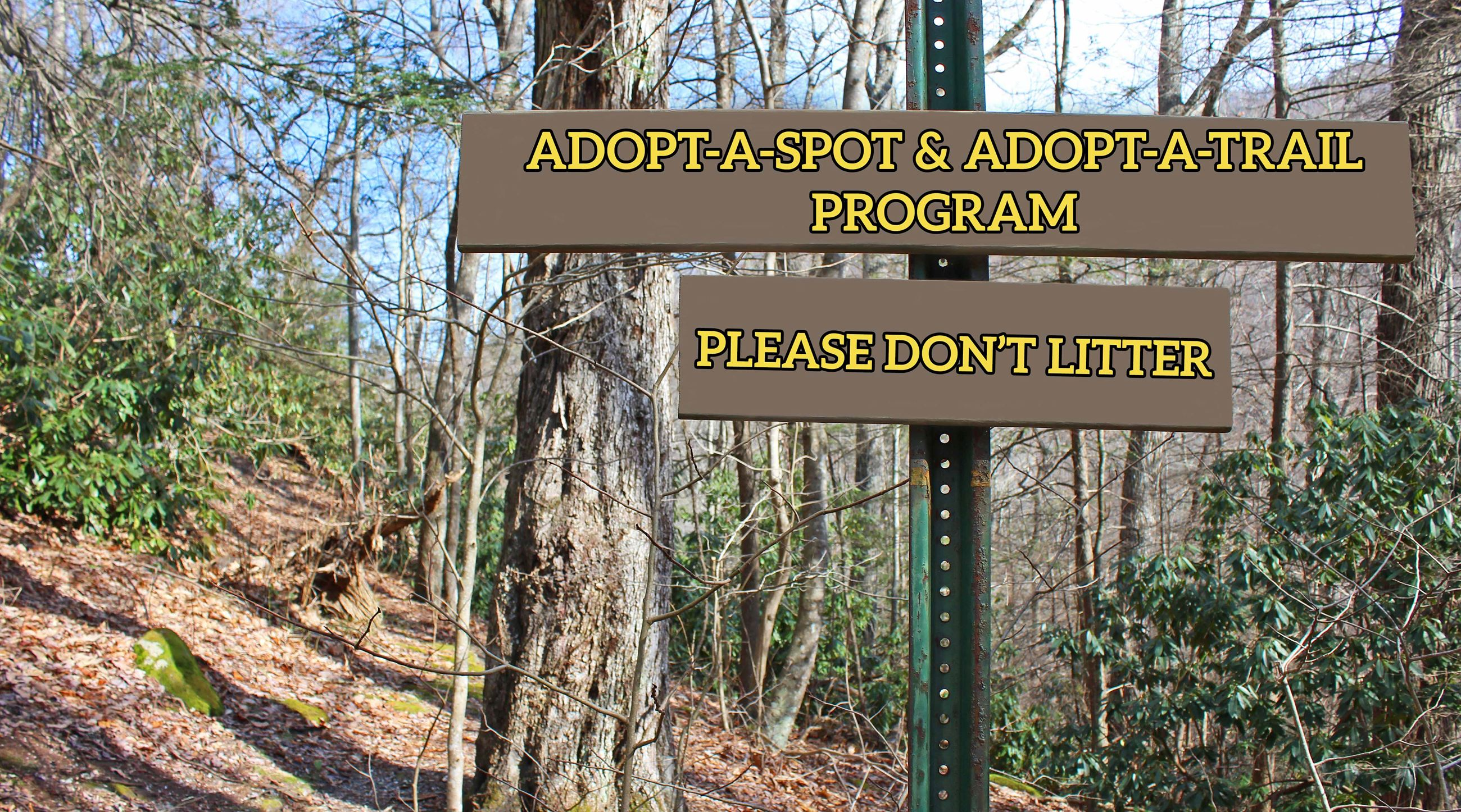 Photo of Adopt A Spot sign